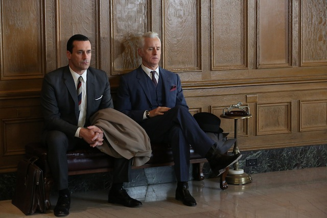 Jon Hamm and John Slattery in Mad Men