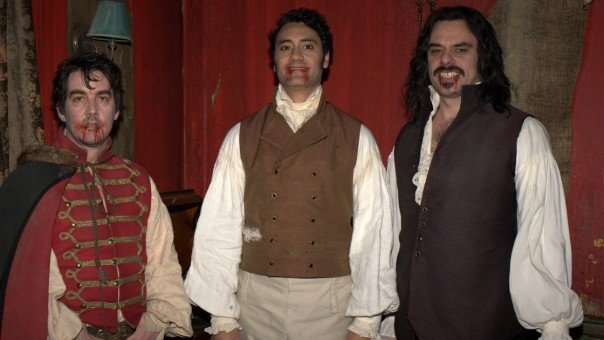 Jonathan Brugh, Taika Waititi and Jermaine Clement in What We Do in the Shadows