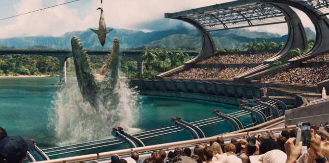 Early Script For Jurassic World Contained Human-Dinosaur Hybrids; New Screens Released