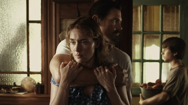 Kate Winslet, Josh Brolin, and Gattlin Griffith in Labor Day