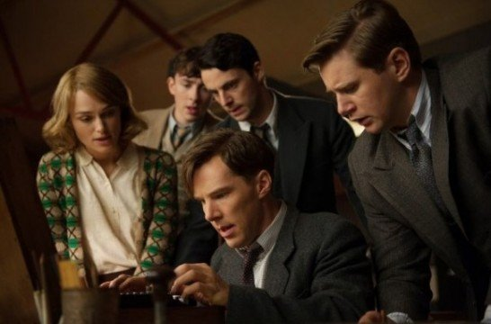 Keira Knightley, Benedict Cumberbatch and Matthew Goode in The Imitation Game