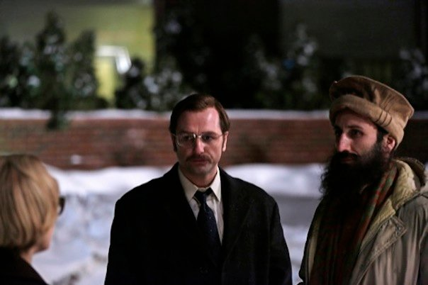 Keri Russell, Matthew Rhys and George Georgiou in The Americans