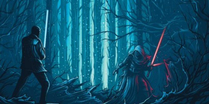 An Epic Lightsaber Duel Is Featured On New Star Wars: The Force Awakens IMAX Poster
