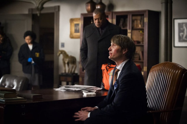 Lawrence Fishburne and Mads Mikkelson in Hannibal