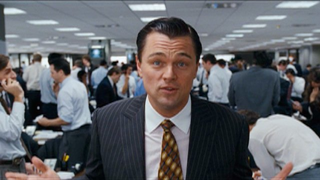 Leonardo Dicaprio in The 001 The Wolf Of Wall Street Breaks The Record For Most Profanity In A Movie