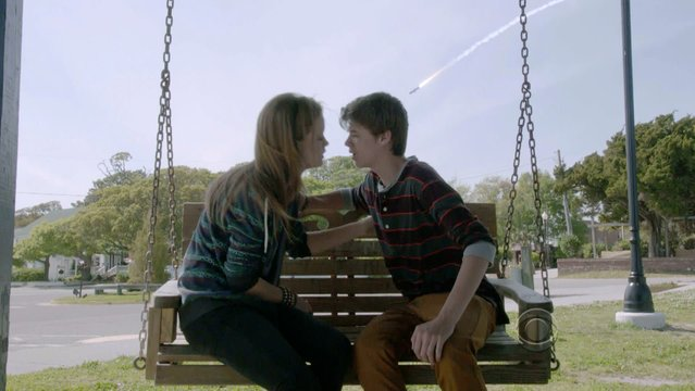 Mackenzie Lintz and Colin Ford in Under the Dome