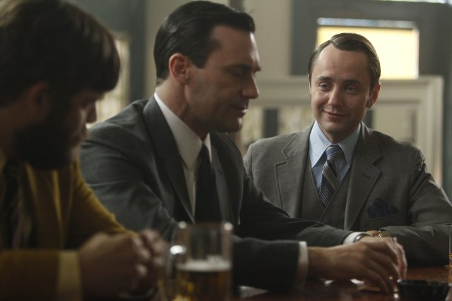 Jay R. Ferguson, Jon Hamm, and Vincent Kartheiser in Mad Men