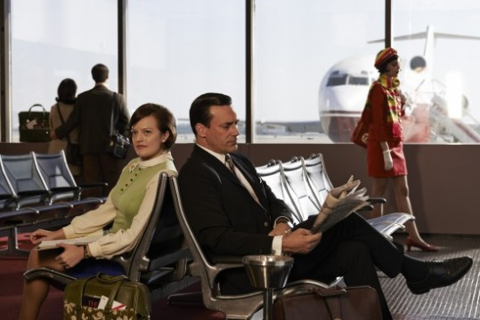Mad Men final season images Peggy Olson and Don Draper 550x367 539x360 Conference Call Interview With Mad Men Creator Matthew Weiner