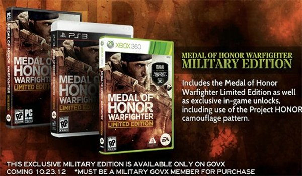 Military-Only Special Edition Announced For Medal Of Honor: Warfighter