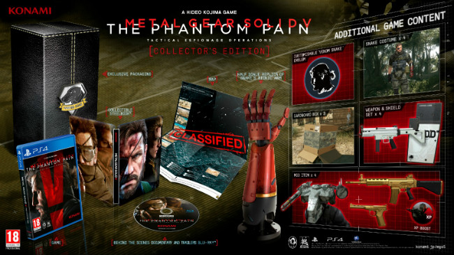 Metal Gear Solid V: The Phantom Pain Collector's Edition Includes Bionic Arm; PC Release Slated For September 15