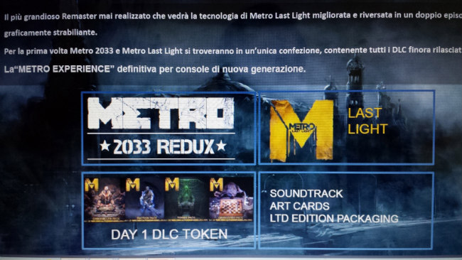Re-Enter The Metro: Metro Redux For PS4 & Xbox One Confirmed By 4A