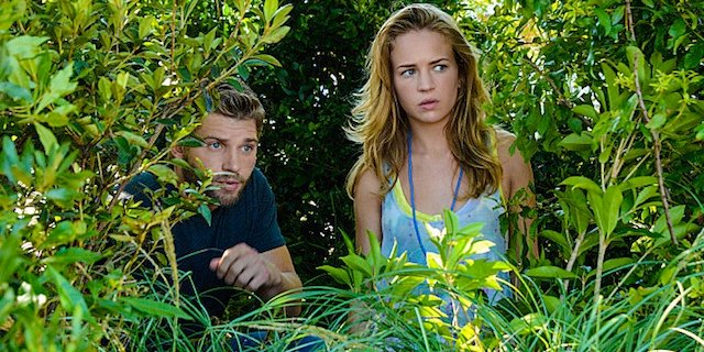 Mike Vogel and Britt Robertson in Under the Dome