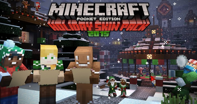 Minecraft Holiday Skins Pack Poster