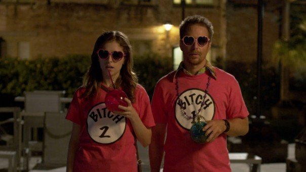 Anna Kendrick and Sam Rockwell in Mr. Right