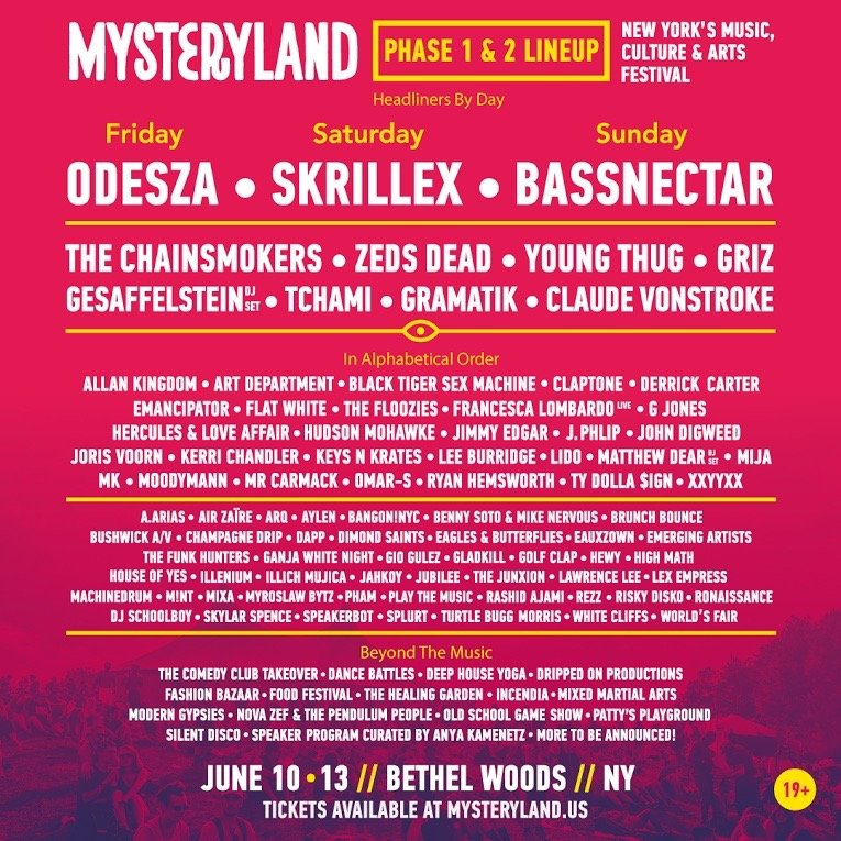 Mysteryland USA 2016 Unveils Phase 2 Lineup