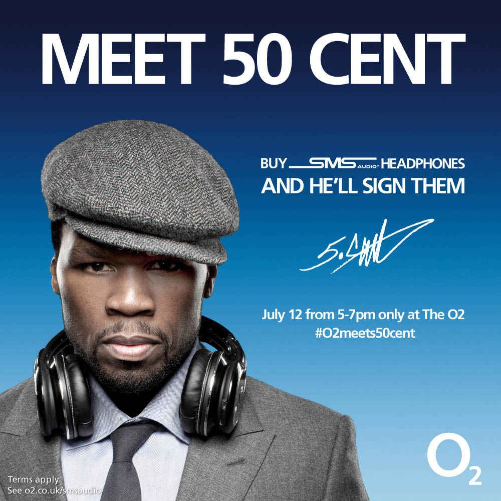 O2 Launches SMS Audio Headphones By 50 Cent, Get Them Signed On July 12