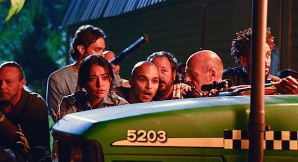 Natalie Martinez and Dean Norris in Under the Dome