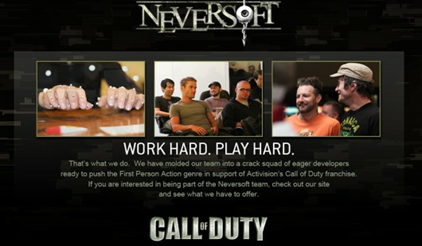 Neversoft Call of Duty Neversoft Now Drafted Into Activisions Call of Duty Squad