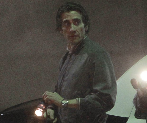 Jake Gyllenhaal filming 'Nightcrawler'