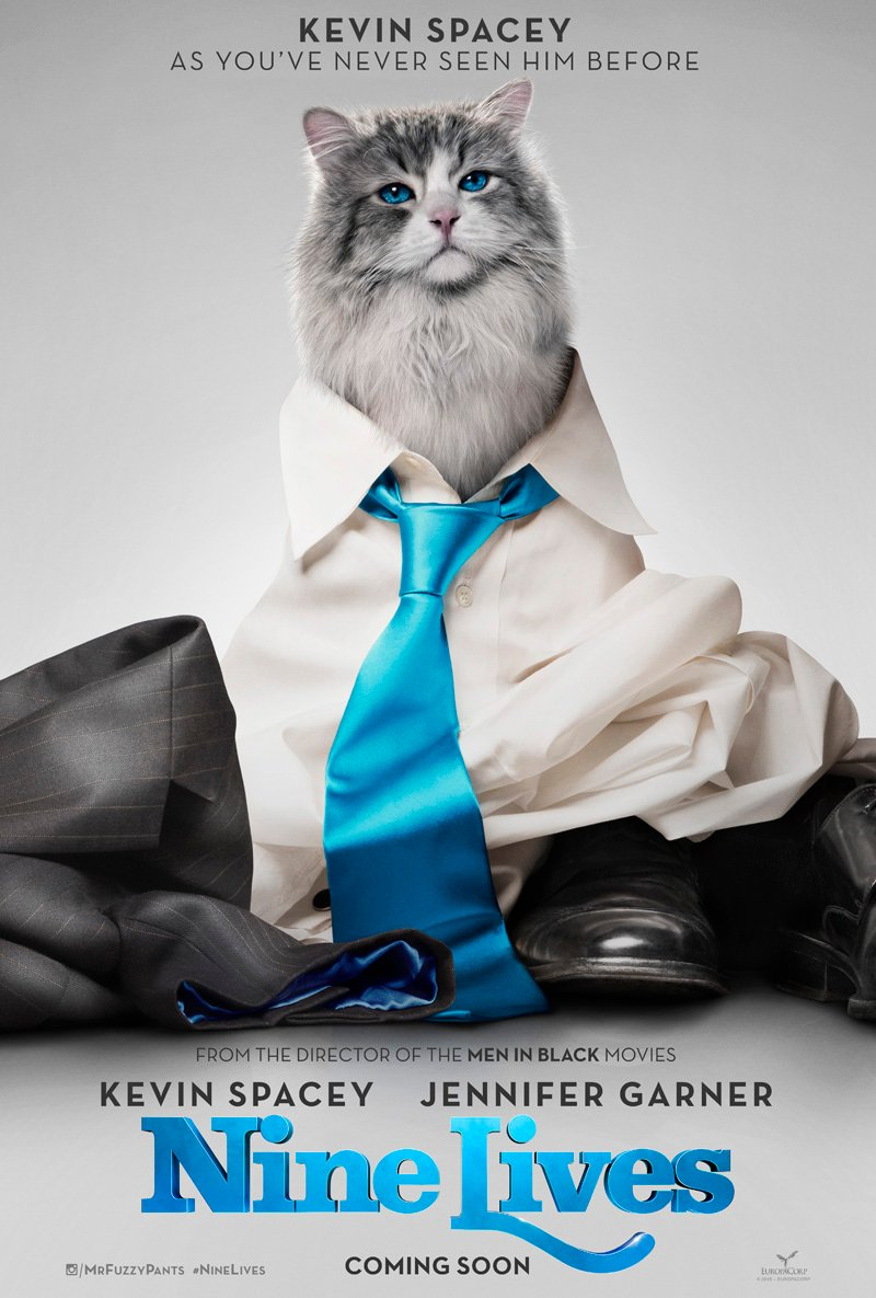 Kevin Spacey Is Mr. Fuzzypants In Latest Trailer For Feline Comedy Nine Lives