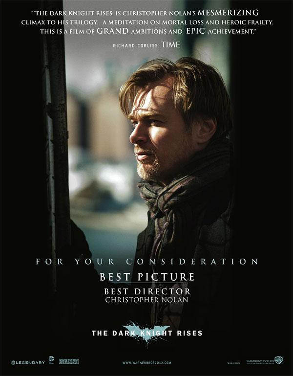 Nolan New The Dark Knight Rises For Your Consideration Poster Features Christopher Nolan