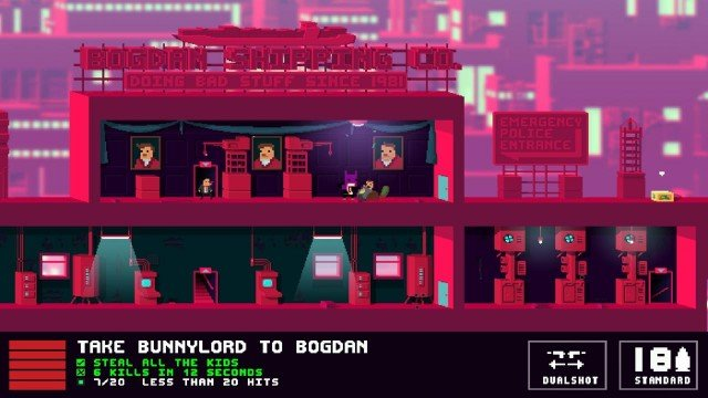 Roll7's Gleefully Violent Not A Hero Hits PS4 In February, Vita Version Canned