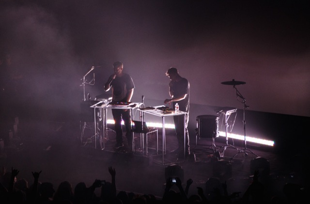 Odesza performing at the Arlington Theater on 16 April 2015. Photo by Jacob Penderworth.