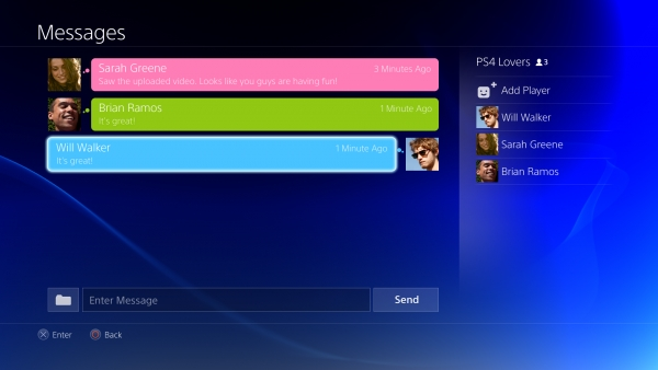 PlayStation Vita-Cross-Platform Chat