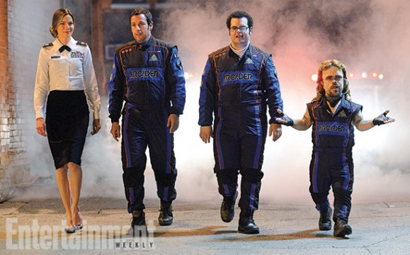 First Look At Pixels Highlights Adam Sandler, Josh Gad, Michelle Monaghan And Peter Dinklage