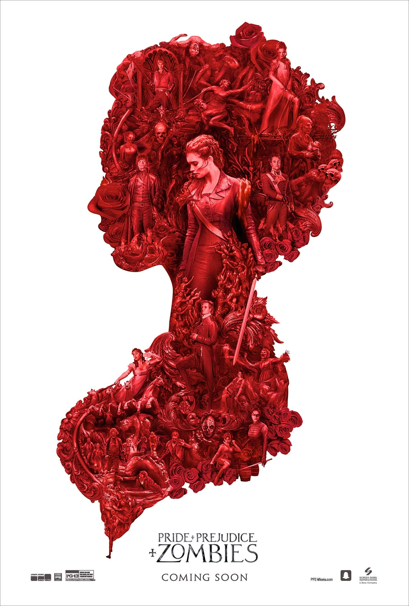 Gothic New Poster For Pride And Prejudice And Zombies Teases A Bloody Apocalypse