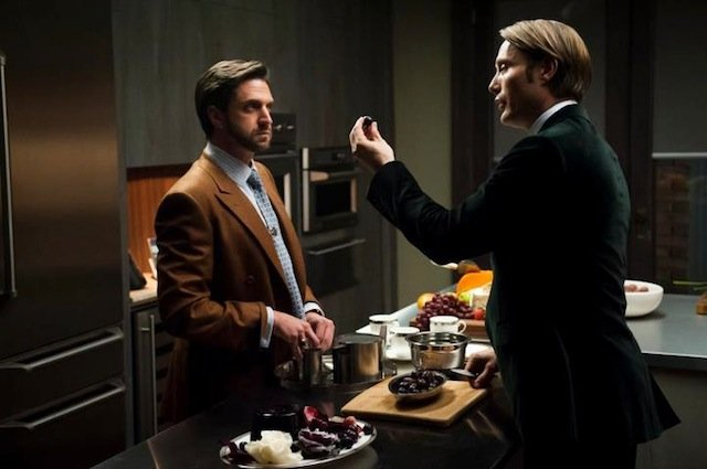 Raul Esparza and Mads Mikkelson in Hannibal