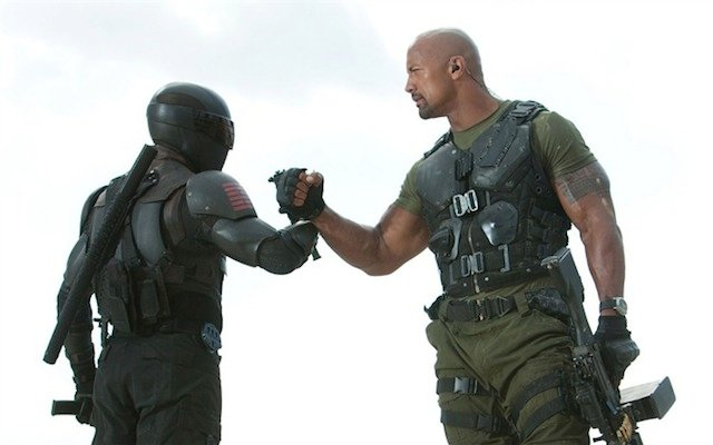 Ray Park and Dwayne Johnson in G.I. Joe: Retaliation