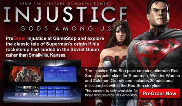RedSon Injustice: Gods Among Us Bringing Red Son Content To NA