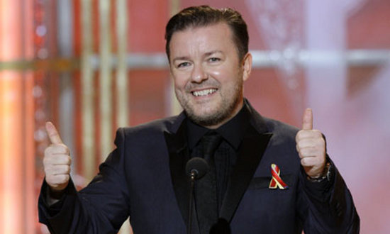 Ricky Gervais Ricky Gervais Will Return To Host The Golden Globes In 2012