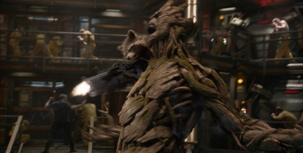 Rocket and Groot in Guardians of the Galaxy