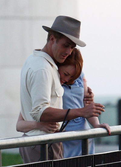Ryan Gosling And Emma Stone Cuddle Up For The Gangster Squad