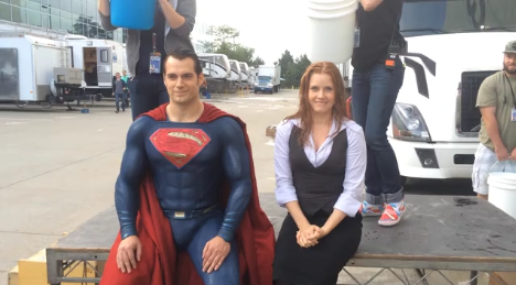 Henry Cavill And Amy Adams Complete ALS Ice Bucket Challenge On Set Of Batman V Superman: Dawn Of Justice