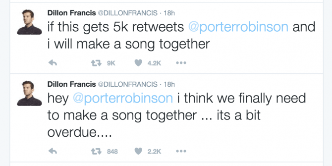 Dillon Francis And Porter Robinson Tease Upcoming Collab