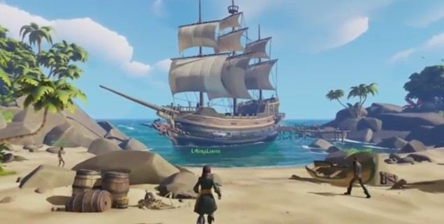 The recently announced Replay Collection is an offer many older gamers won't be able to refuse, but it's Rare's newest adventure that'll really put the wind in your sails.   The company itself calls Sea of Thieves its most ambitious effort yet, and the cartoony pirate simulator has no shortage of ideas on display during its reveal trailer. How you and other players will interact on land and on the high seas is still unclear, but the game's swashbuckling theme seems a perfect fit for Rare's light-hearted sense of humor and premier sound design.