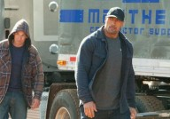 Jon Bernthal and Dwayne Johnson in Snitch