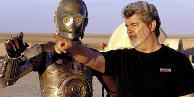 C3PO and George Lucas