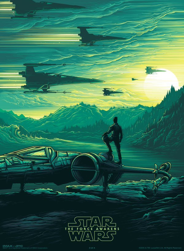 Amazing New IMAX Poster For Star Wars: The Force Awakens Released