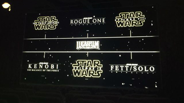 Leaked Comic-Con Image Allegedly Reveals Disney's Full Star Wars Slate