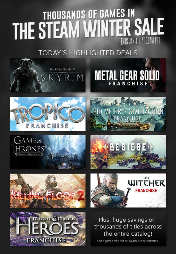 "Steam Winter Sale Opens And Promises ""Thousands"" Of Discounts"