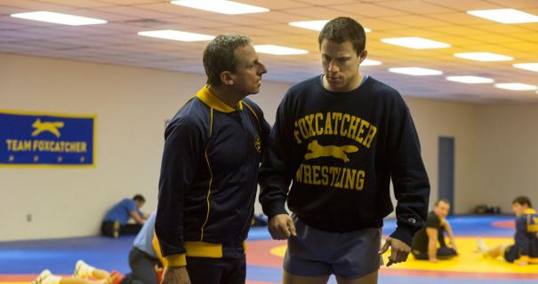 Steve Carrel and Channing Tatum in Foxcatcher