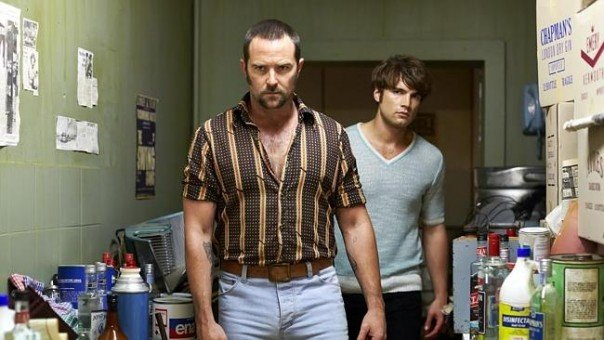 Sulliven Stapleton and Alex Russell in Cut Snake