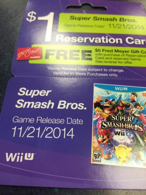Retailer Slates Super Smash Bros. Wii U For November