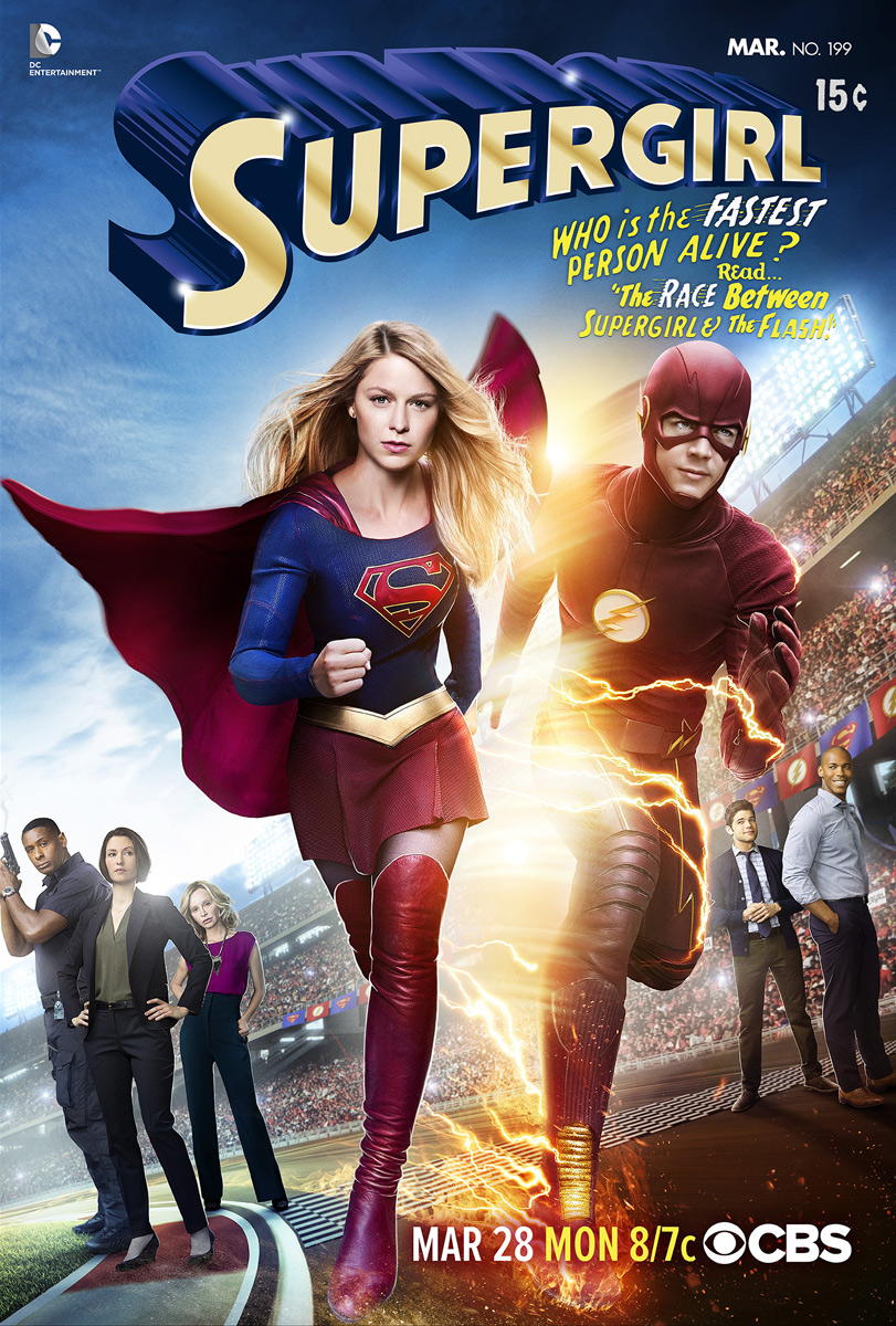 It's A Race To The Finish Line On First Poster For Supergirl And The Flash's Crossover