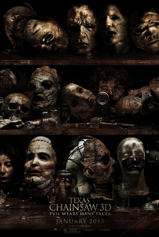 """Evil Wears Many Faces"" In The First Poster For Texas Chainsaw 3D"