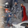 Thor And Captain America Team Up On The Avengers Set